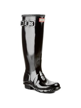 Hunter Hunter Guminiai batai Original Gloss W23616 Juoda