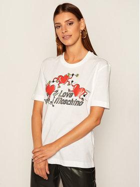 LOVE MOSCHINO LOVE MOSCHINO Тишърт W4H0602M 3876 Бял Regular Fit
