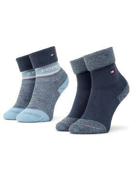 Tommy Hilfiger Tommy Hilfiger Súprava 2 párov vysokých detských ponožiek 100000797 Modrá