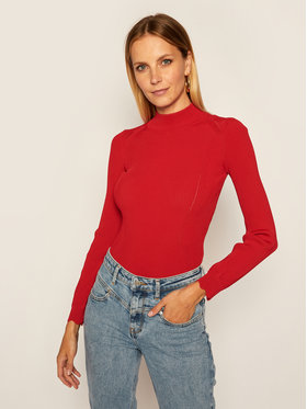 Guess Guess Pull à col roulé Helena W0BR0H Z2G50 Rouge Slim Fit