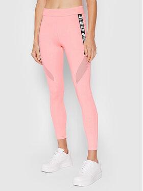 Guess Guess Legginsy Angelica O1GA54 MC03W Różowy Slim Fit