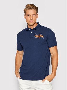 Polo Ralph Lauren Polo Ralph Lauren Тениска с яка и копчета Ssl 710814437003 Тъмносин Slim Fit