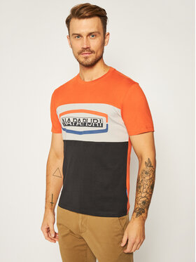 Napapijri Napapijri T-Shirt Sogy Cb Ss 1 NP0A4FDH Oranžová Regular Fit