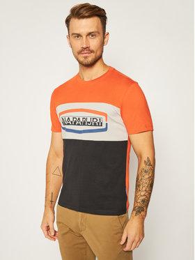 Napapijri Napapijri T-Shirt Sogy Cb Ss 1 NP0A4FDH Pomarańczowy Regular Fit