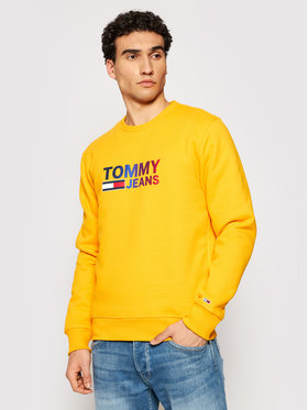 Tommy Jeans Tommy Jeans Felpa Tjm Ombre Logo DM0DM10202 Giallo Regular Fit