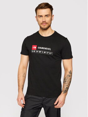 The North Face The North Face Marškinėliai Courchevel Tee NF0A35WLJK31 Juoda Regular Fit