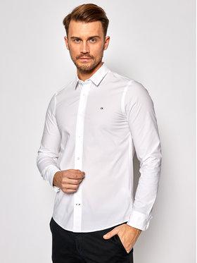 Calvin Klein Calvin Klein Ing Stretch Poplin K10K105984 Fehér Slim Fit