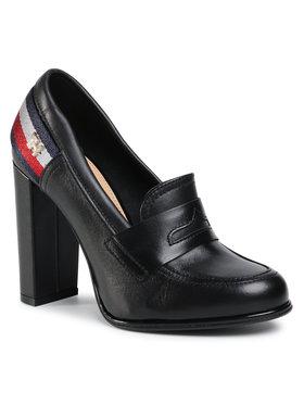 TOMMY HILFIGER TOMMY HILFIGER Κλειστά παπούτσια Tommy Strap High Heel Pump FW0FW04977 Μαύρο