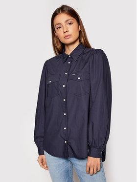 Tommy Jeans Tommy Jeans Marškiniai Puffy Sleeve DW0DW10454 Tamsiai mėlyna Regular Fit