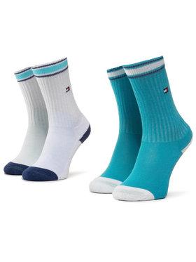 TOMMY HILFIGER TOMMY HILFIGER Set di 2 paia di calzini lunghi da bambini 374010001 Bianco