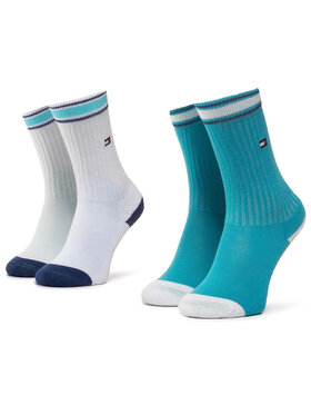 TOMMY HILFIGER TOMMY HILFIGER Σετ ψηλές κάλτσες παιδικές 2 τεμαχίων 374010001 Λευκό