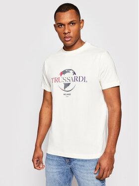Trussardi Trussardi T-Shirt Pure 52T00443 Beżowy Boxy Fit