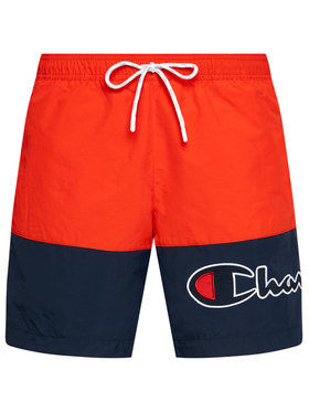 Champion Champion Pantaloni scurți pentru înot Colour Block 214431 Roșu Board Fit