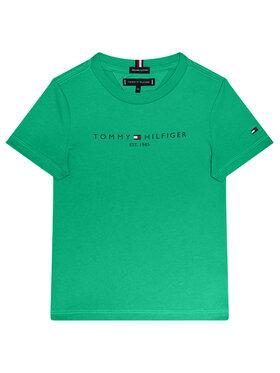 TOMMY HILFIGER TOMMY HILFIGER Marškinėliai Essential Tee KB0KB05844 M Žalia Regular Fit