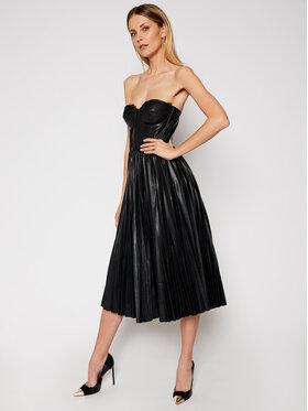 Elisabetta Franchi Elisabetta Franchi Φόρεμα δερμάτινο AB-973-11E2-V460 Μαύρο Loose Fit