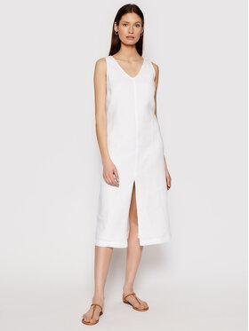 Seafolly Seafolly Robe d'été Essential Linen 54361-DR Blanc Relaxed Fit