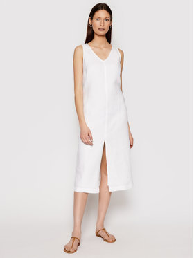 Seafolly Seafolly Rochie de vară Essential Linen 54361-DR Alb Relaxed Fit