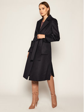 MAX&Co. MAX&Co. Kabát pro přechodné období Runway 40149720 Tmavomodrá Regular Fit