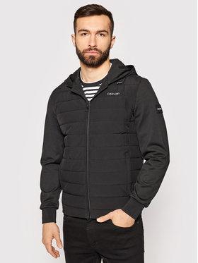 Calvin Klein Calvin Klein Átmeneti kabát Mix Zip K10K106477 Fekete Regular Fit