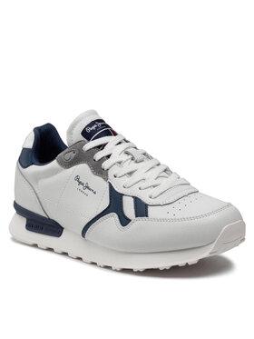 Pepe Jeans Pepe Jeans Sneakersy Britt Man Capsule PMS30752 Bílá