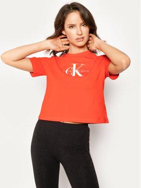 Calvin Klein Jeans Calvin Klein Jeans Póló Cropped Logo J20J213692 Piros Regular Fit