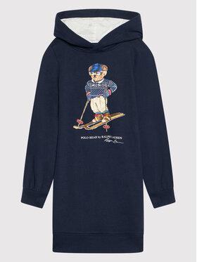 Polo Ralph Lauren Polo Ralph Lauren Kleid für den Alltag Ls 313853320001 Dunkelblau Straight Fit