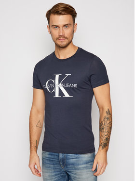 Calvin Klein Jeans Calvin Klein Jeans T-Shirt Iconic Monogram J30J314314 Dunkelblau Slim Fit