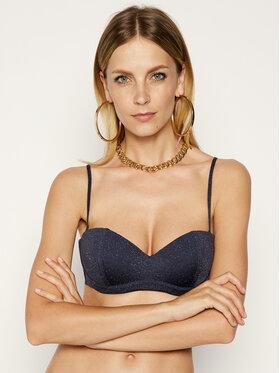 Roxy Roxy Góra od bikini Moulded Bandeau ERJX304107 Granatowy