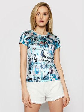 Guess Guess T-shirt W1GI21 R4JZ4 Blu Slim Fit