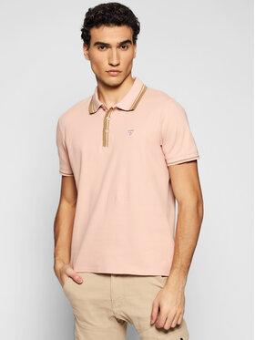 Guess Guess Polo M1RP60 K7O61 Pomarańczowy Slim Fit