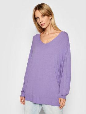 Kontatto Kontatto Sweater 3M7215 Lila Loose Fit