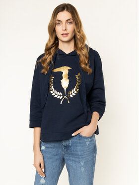 Trussardi Jeans Trussardi Jeans Džemperis 56F00085 Tamsiai mėlyna Regular Fit