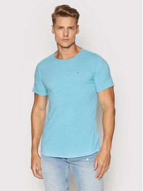 Tommy Jeans Tommy Jeans T-Shirt Jaspe DM0DM09586 Niebieski Slim Fit