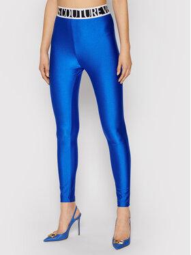 Versace Jeans Couture Versace Jeans Couture Legginsy Shiny Lycra Sumatra 71HAC101 Niebieski Slim Fit