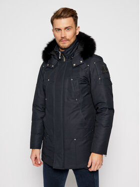 Moose Knuckles Moose Knuckles Parka Stirling MK4661MP Granatowy Regular Fit