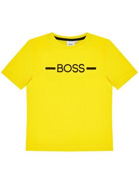 Boss Boss T-shirt J25G97 S Žuta Regular Fit