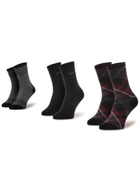 QUAZI QUAZI Set di 3 paia di calzini lunghi da donna QZ-SOCKS-65-04-WOMAN-004 Nero
