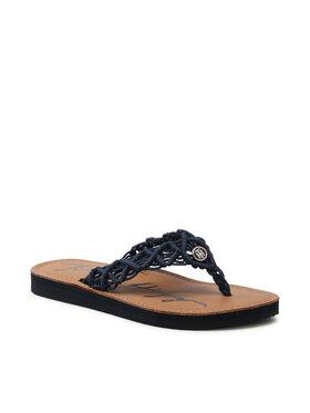 Tommy Hilfiger Tommy Hilfiger Japonki Faded Leather Footbed Sandal FW0FW05808 Granatowy