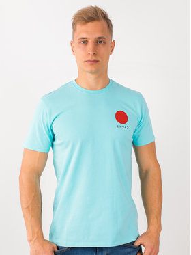 Edwin Edwin Tričko Japanese Sun Ts I025020 TF10J94 AGB67 Modrá Regular Fit