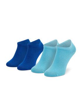 Tommy Hilfiger Tommy Hilfiger Súprava 2 párov detských členkových ponožiek 301390 Modrá