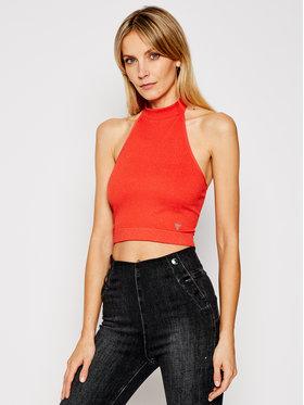 Guess Guess Marškinėliai W1GZ17 Z1QD0 Oranžinė Slim Fit