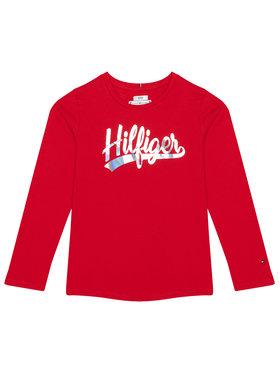 TOMMY HILFIGER TOMMY HILFIGER Bluză Script Foil Film Tee KG0KG05501 M Roșu Regular Fit