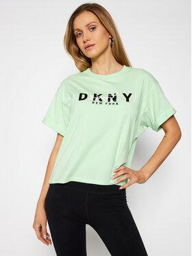 DKNY Sport DKNY Sport T-Shirt DP0T7854 Zielony Oversize