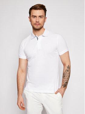 Geox Geox Тениска с яка и копчета Sustainable M1210C T2649 F1492 Бял Regular Fit