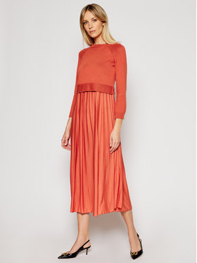 Weekend Max Mara Weekend Max Mara Ensemble robe d'été et pull Aidone 53210317 Orange Regular Fit
