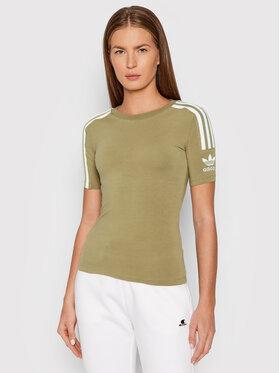 adidas adidas T-Shirt Tight H33544 Zielony Slim Fit