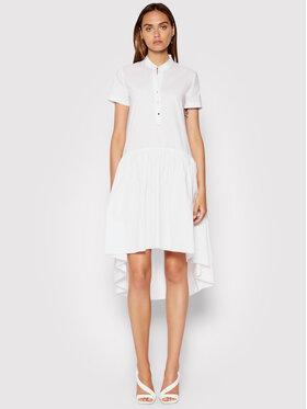 Rinascimento Rinascimento Sukienka koszulowa CFC0103381003 Biały Regular Fit