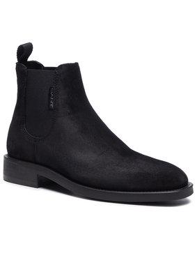 Gant Gant Kotníková obuv s elastickým prvkem Brockwill 21653008 Černá