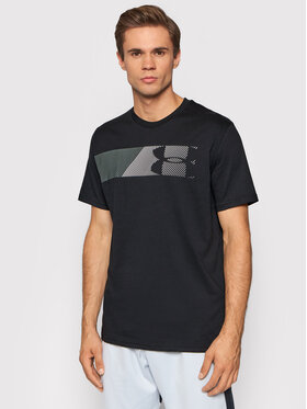 Under Armour Under Armour T-shirt Ua Fast Left Chest 1329584 Crna Loose Fit