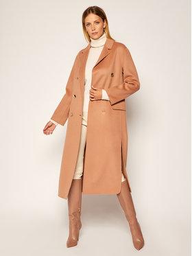 Pinko Pinko Μάλλινο παλτό Giacomo AI 20-21 BLK01 1G14ZV Y27P Καφέ Regular Fit